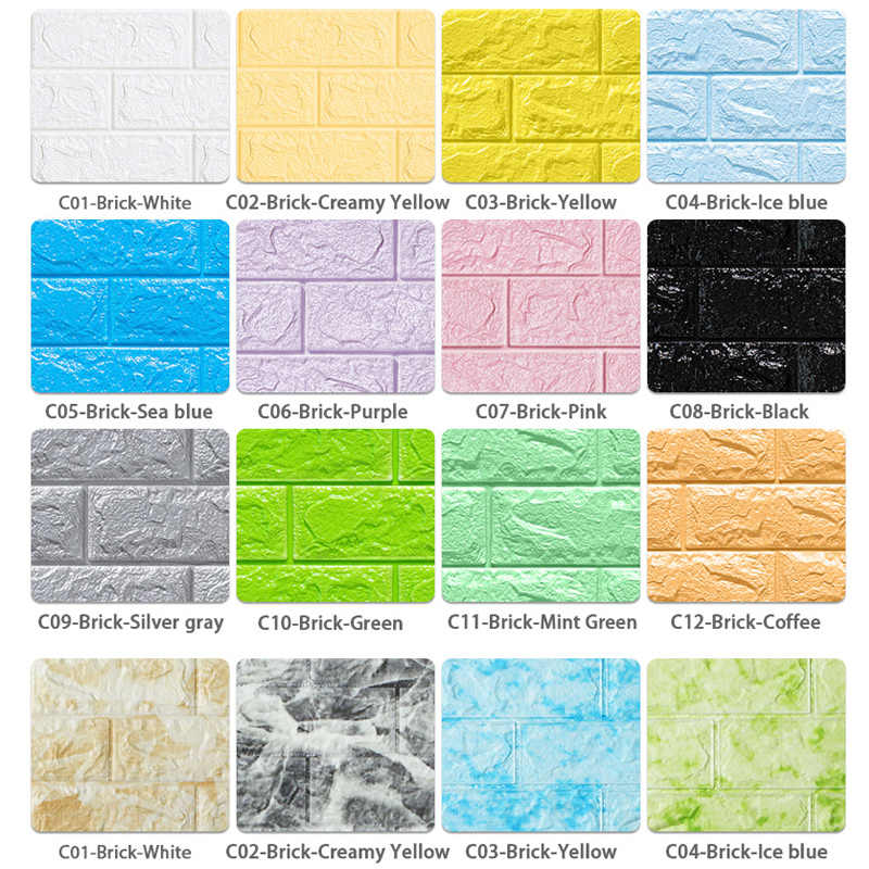 3D 壁ステッカー大理石レンガ防水 diy 自己粘着装飾子供のためのルームリビングルームの壁紙ステッカー