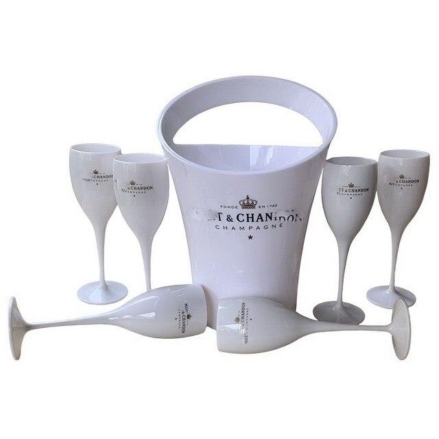 Ice Bucket And Wine Glass Set 2