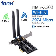 Banda dupla 3000mbps wifi 6 intel ax200 pcie sem fio wifi adaptador 2.4g/5ghz 802.11ac/ax bluetooth 5.0 ax200ngw wi-fi cartão para pc