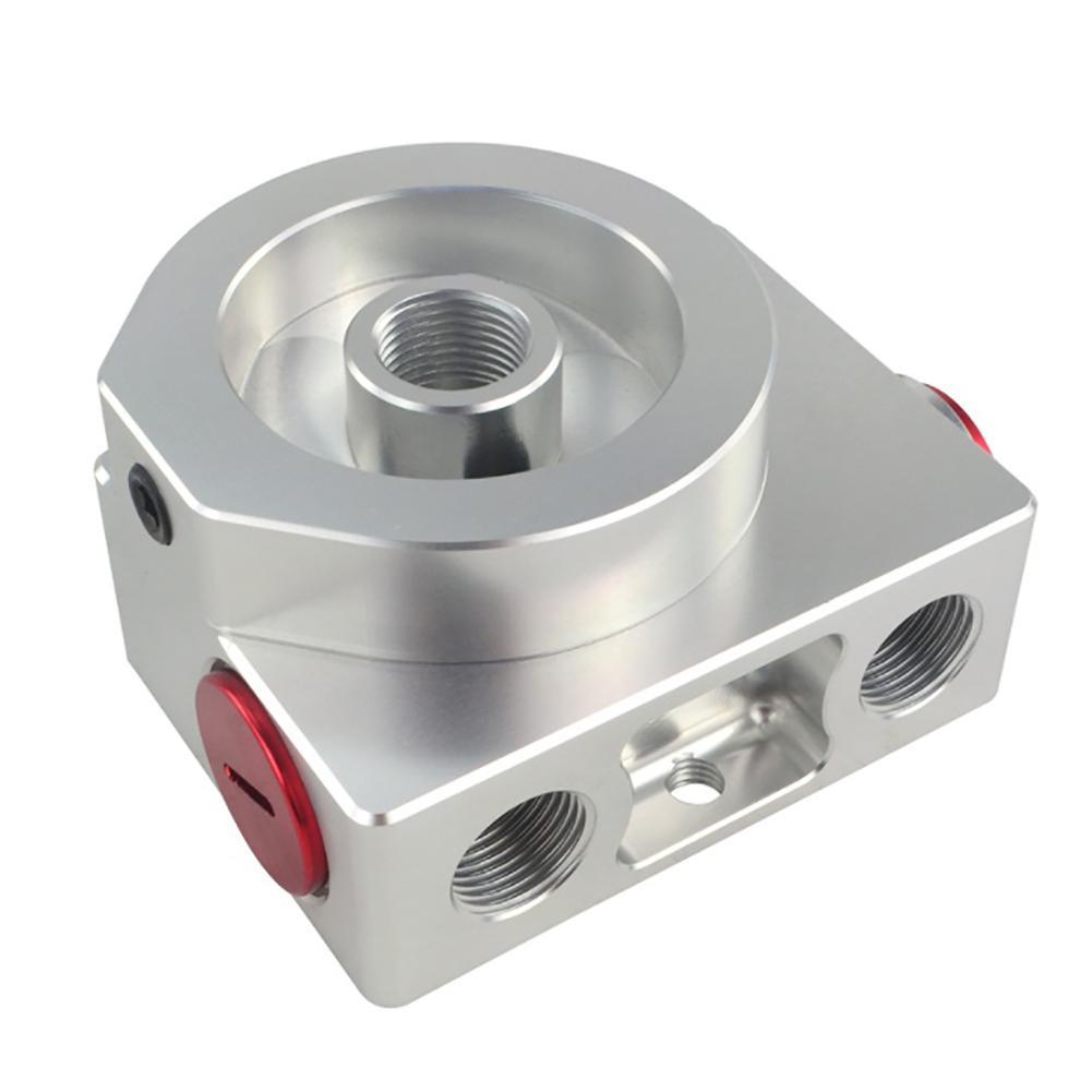 Adaptateur Sandwich pour filtre à huile de voiture avec filtre à huile bloc à distance avec Thermostat 1xAN8 4xAN6/AN8/AN10 JR5675 - 4