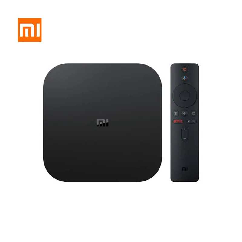 Original Xiaomi Mi TV Box S EU Plug 4K HDR Android TV 8.1 Ultra HD 2G 8G WIFI Google Cast Netflix-IPTV Set top Box Media Player