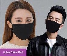 12 יח\חבילה יוניסקס מודאלי כותנה בד 2 שכבות פנים פה מסכות נגד אבק לנשום באופן חופשי לשימוש חוזר רחיץ למבוגרים גודל