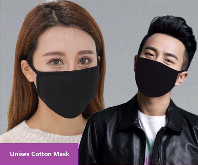 12 sztuk/partia Unisex modalne bawełniane tkaniny 2 warstwy twarz usta maski ochrona przed kurzem swobodnie oddychać wielokrotnego użytku, z możliwością prania, dla dorosłych rozmiar