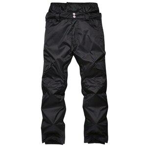 Мужские брюки для сноуборда водонепроницаемые ветрозащитные камуфляжные уличные зимние штаны мужские зимние теплые лыжные брюки с высоко...