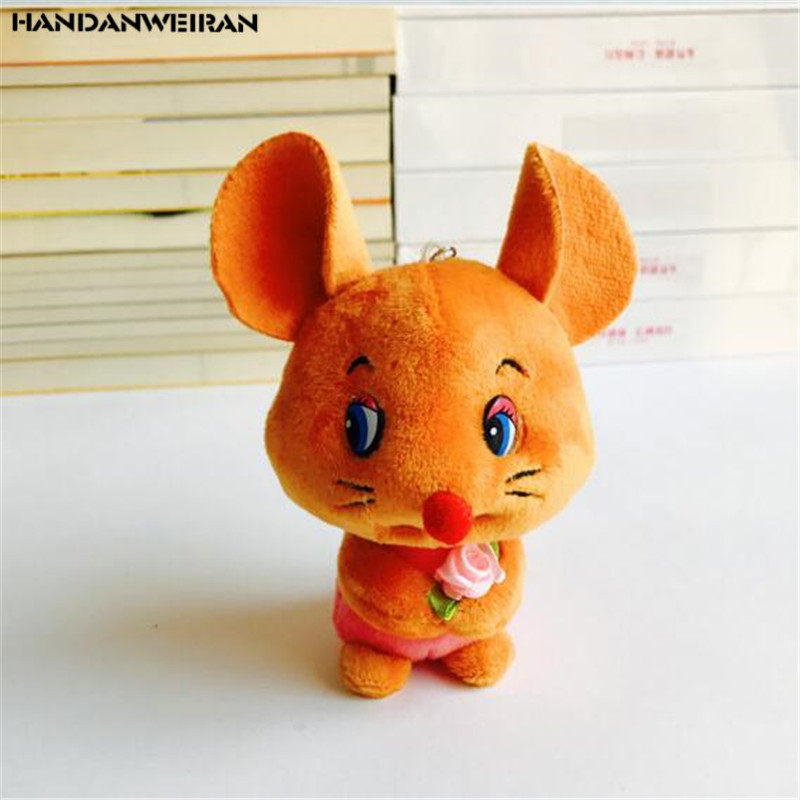2020 Year Of The Rat Mascot 1Pcs 12CM New Embrace mouse plush toy New Year Gift Filled Animal Pendant For Childs HANDANWEIRAN