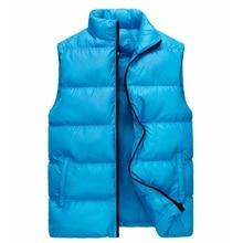 Down Cotton Waistcoat, Autumn and Winter Korean Thicker Warmer Waistcoat,Warmer Waistcoat for Men Vest