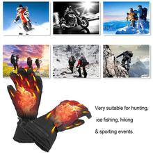 1Pair Winter USB Hand Warmer Thermal Electric Heating Heated Gloves Battery Powered  Outdoor Cycling Dropship