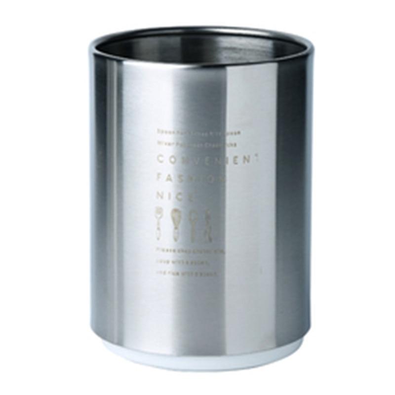 Stainless Steel Chopsticks Storage Tube Spoon Fork Storage Box Cutlery Drain Holder Household Kitchen Utensils Organizer Tool|Bottles Jars & Boxes| |  - title=