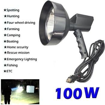 12V Super Bright Portable light Handheld Hunting Spotlight Xenon Lantern  Searchlight Work Light Lamp For Boat Fishing Camping