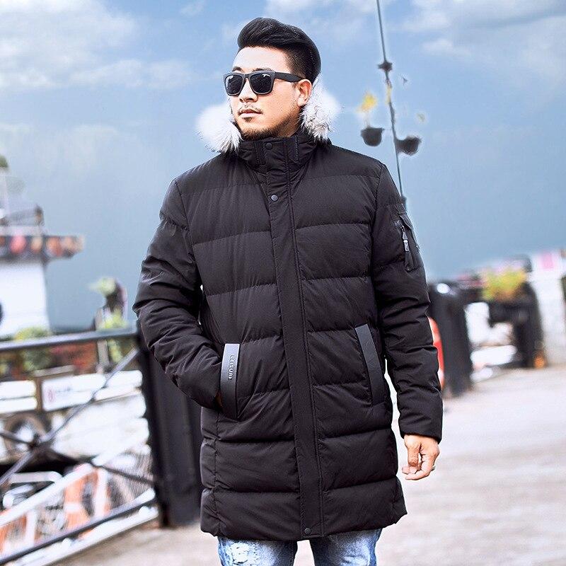 Down &   Parka   Coat 6XL 7XL 8XL 9XL 2019 Brand Keep Warm Winter Jacket Men's Windbreaker