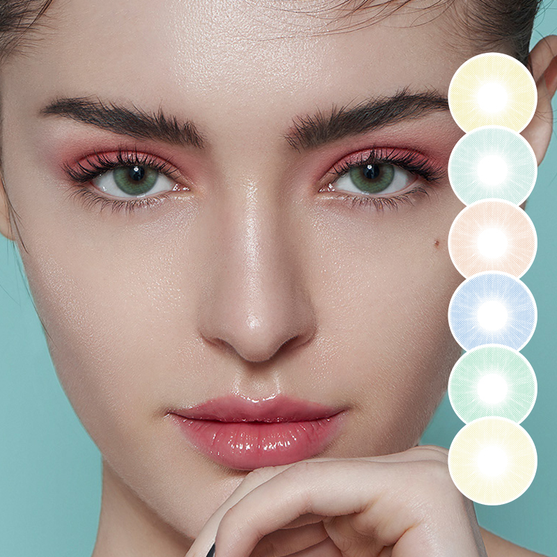 Color Contact Lenses 2pcs/Pair Colored Contact Lenses Natural Contact Lenses For Eyes Color Yearly Cosmetic Contact Lens