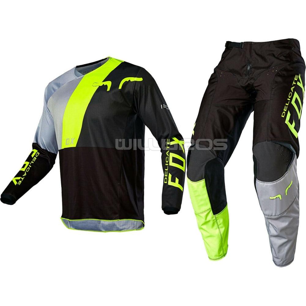 New Arrival 2020 Delicate Fox 180 Lovl SE Jersey & Pant Combo Gear Set Motorcycle Suit Motorbike Kit Mens