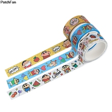 Tapes-Supplies Stationery Adhesive-Tape Crayon Shin-Chan Anime Cute Paper DIY A3539 Patchfan