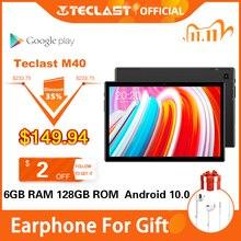 أحدث أقراص 10.1 بوصة Teclast M40 أندرويد 10.0 اللوحي 6GB RAM 128GB ROM 8MP كاميرا خلفية المزدوج 4G مكالمة هاتفية بلوتوث 5.0