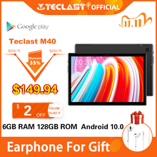 Newest 10.1 inch Tablets Teclast M40 Android 10.0 Tablet PC 6GB RAM 128GB ROM 8MP Rear Camera Dual 4G Phone Call Bluetooth 5.0