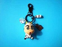 Cute Japanese Anime Crayon Shin-chan Shinnosuke Nohara Doll Keychains for Bag Charms Car Key Chain Gift Women Girl Ring