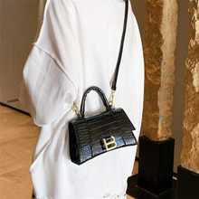 Designer Luxury Soft Top-Handle Tote Women Alligator Leather Hourglass Handbag Women Brand B Metal Shoulder Messenger Bags
