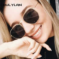 Oulylan, gafas de sol poligonales clásicas para mujer, marca de diseñador, lentes transparentes para hombres, gafas de sol pequeñas, marco de Metal hexagonal