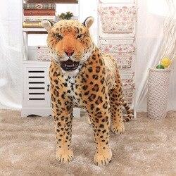 63cm Länge Echt Leben Tier Leopard Spielzeug Puppe Station Tiger Plüsch Puppe Geschenk für Jungen Spielzeug für Kinder Juguetes brinquedos Decor