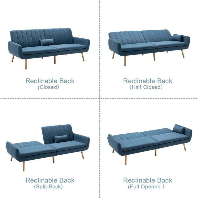Sofa Futon Bed, Convertible Sleeper Couch  4