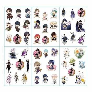 6pcs/lot Touken Ranbu Hanamaru Anime Stickers Pegatinas Book Sticker Pack Classic Toys Skateboard Doodle Sticker Toys uwowo izuminokami kanesada cosplay touken ranbu online anime men costume touken ranbu cosplay izuminokami kanesada