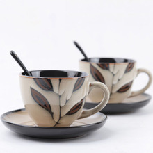 Coffee-Cup-Set Saucer Small Ceramic Household European-Style Luxury And Mug Utensils