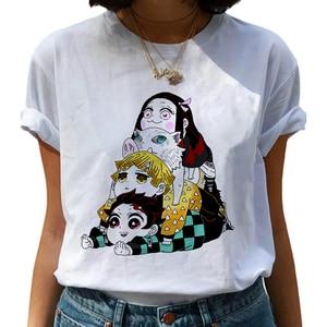 Funny Japanese Anime Kimetsu No Yaiba Demon Slayer T Shirt Graphic Top Tees Tshirt Streetwear Punk T-shirt Men Clothes Women(China)