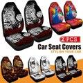 3D чехол на переднее сиденье автомобиля с принтом павлина  универсальный защитный чехол на сиденье автомобиля  полный Чехол для большинства ...