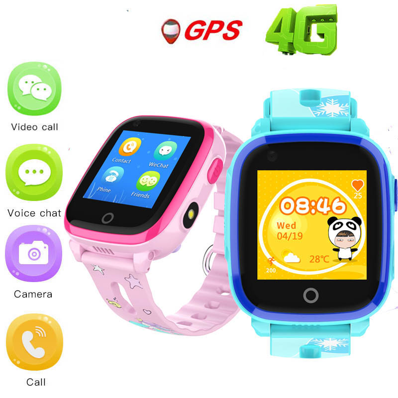 Neueste DF33 4G Wasserdichte GPS <font><b>smart</b></font> <font><b>watch</b></font> Remote Kamera Kinder Kinder kind SOS Video Anruf Monitor Tracker <font><b>smart</b></font> <font><b>watch</b></font> uhr image