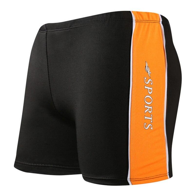2020 Summer Briefs Swimsuit Plus Size Stripe Pattern Men Swimming Shorts Quick Drying Swim Black Blue Beach Wear