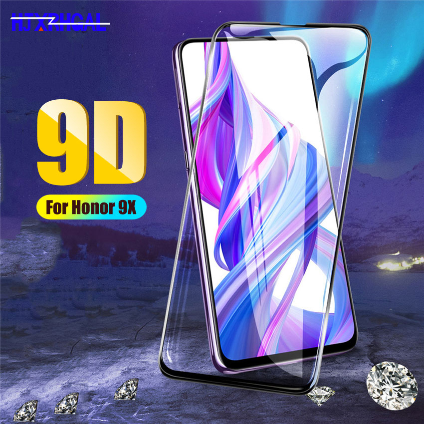 9D Full Cover Tempered Glass For Huawei honor 9X 8X 8C 8A Screen Protector For Honor 10 9 8 Lite Note 10 View 20 V20 Glass Film-in Phone Screen Protectors from Cellphones & Telecommunications