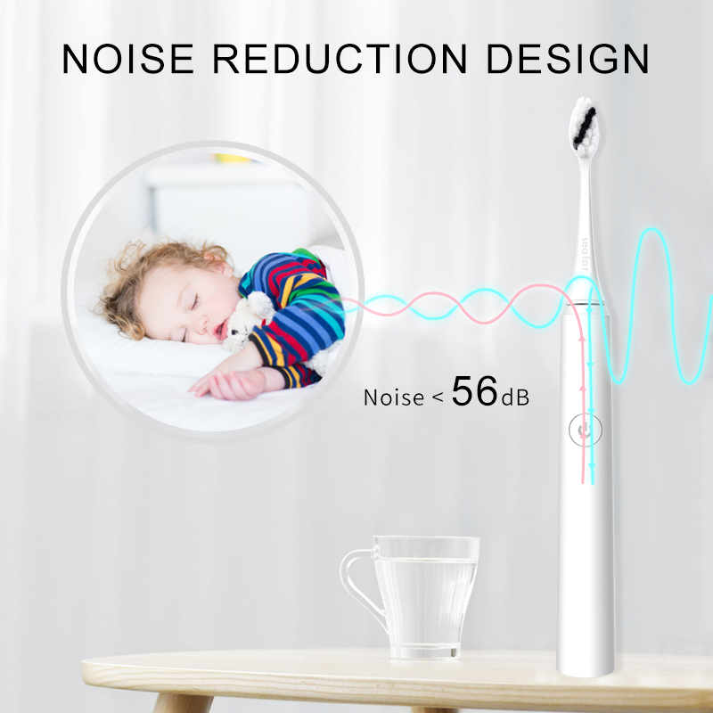Seago Electric Sonic Toothbrush 5 Mode Rechargeable Automatic Replacement Tooth Brush Adult Waterproof Whitenig Best Gift