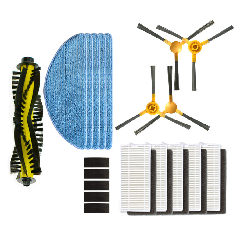 Robotic Vacuum Cleaner HEPA Filter Side Main Brush Mop Cloth For NEATSVOR X500 Orfeld X503 Robot Vacuum Cleaner Accessories