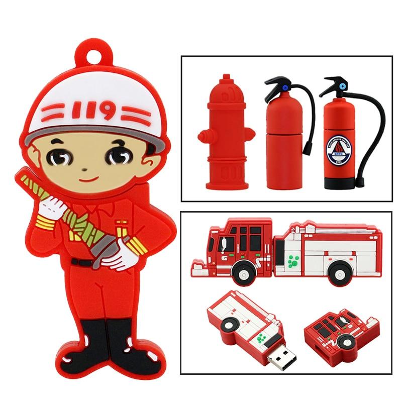 Usb-флеш-накопитель с клапаном для пожарной машины, 32/16/8/4 ГБ
