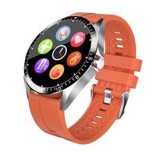 Montre connectée GW16 pour Android et IOS, bracelet rond entièrement tactile, moniteur de pression artérielle, d'o2, affichage de la météo, bluetooth