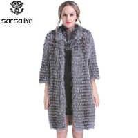 Kobiety prawdziwe futra dzianiny futra kobiet naturalne srebrne futra lisa kurtki damskie długie luksusowe wiosna prawdziwe futro ubrania 2020 nowy