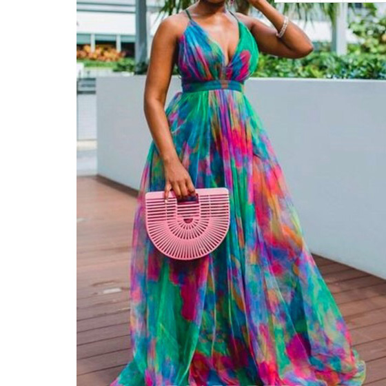 New African Dresses For Women Summer 2020 Big Size Deep V Neck Sexy Evening Party Night Club African Dresses Floor Length Dress