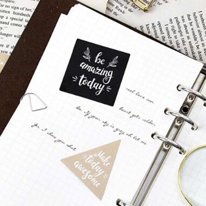 Sevimli İngilizce nimet dekoratif çıkartmalar yapışkan çıkartmalar DIY dekorasyon zanaat Scrapbooking çıkartmaları hediye Statione 45 adet/paket