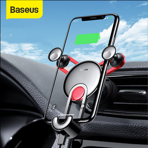 Image 1 - Baseus Gravity Car Holder For Phone in Car Air Vent Clip Mount Stand Universal Car Phone Holder for iPhone Samsung Phone Bracket