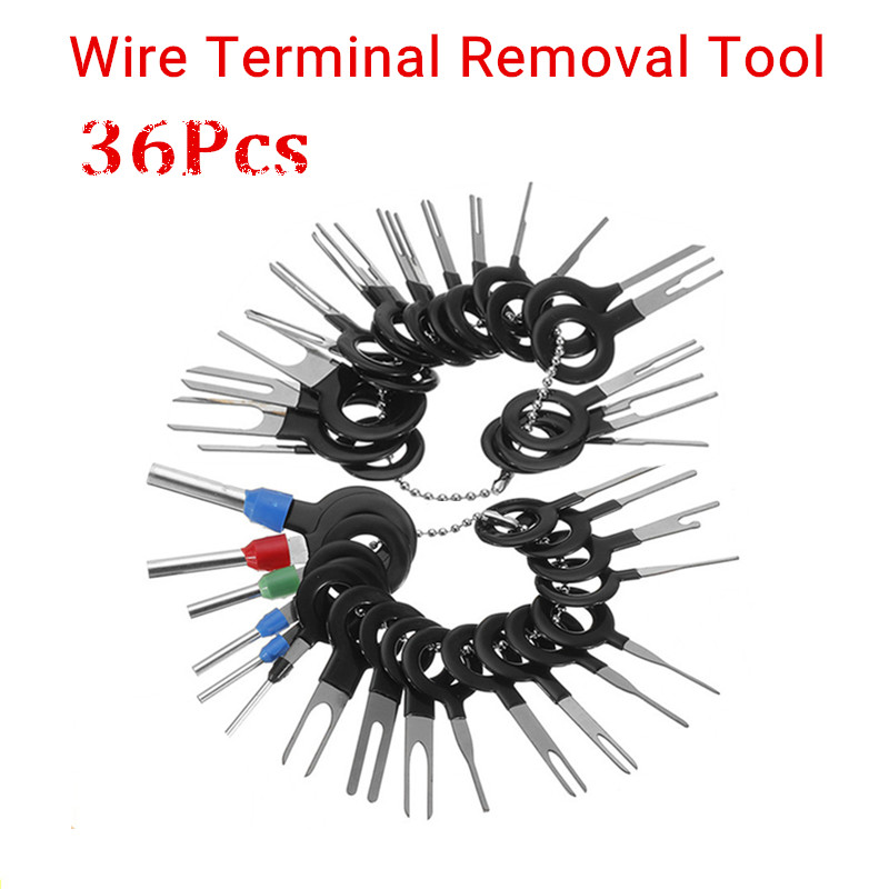 26Pcs 29Pcs 36Pcs Car Terminal Removal Tool Electrical Wiring Crimp Connector Pin Extractor Kit Automobiles Terminal Repair Hand