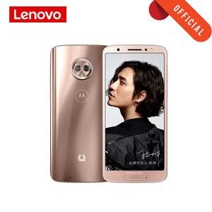 Image 1 - 4 기가 바이트 64 기가 바이트 모토 G6 스마트 폰 2160*1080 5.7 인치 휴대 전화 유리 바디 3000mAh 지원 MicroSD 핸드폰 글로벌 ROM