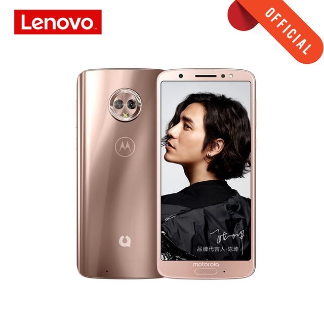 4 기가 바이트 64 기가 바이트 모토 G6 스마트 폰 2160*1080 5.7 인치 휴대 전화 유리 바디 3000mAh 지원 MicroSD 핸드폰 글로벌 ROM