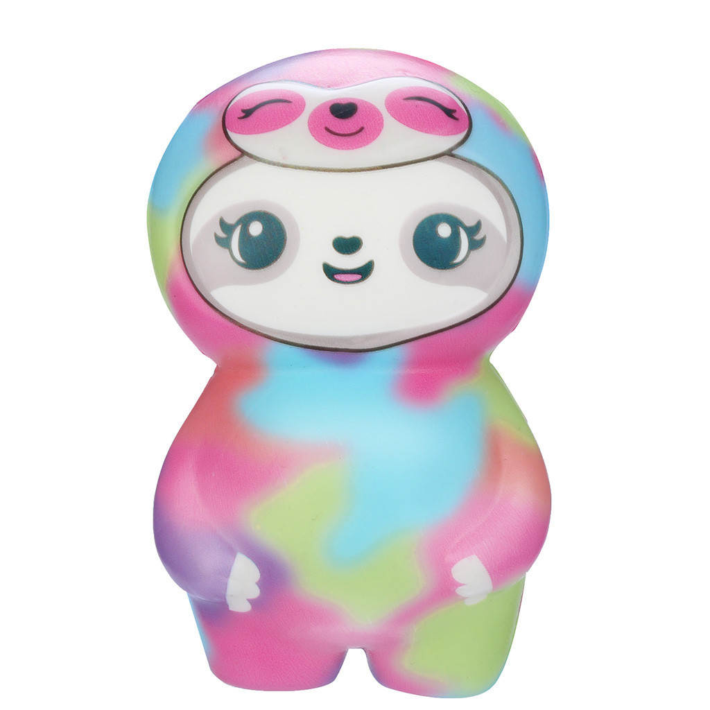 Cartoon Adorable Camouflage Sloth Decompression Slow Rebound Toy Children's Leisure Toys Relieve Stress Cure Gift #A