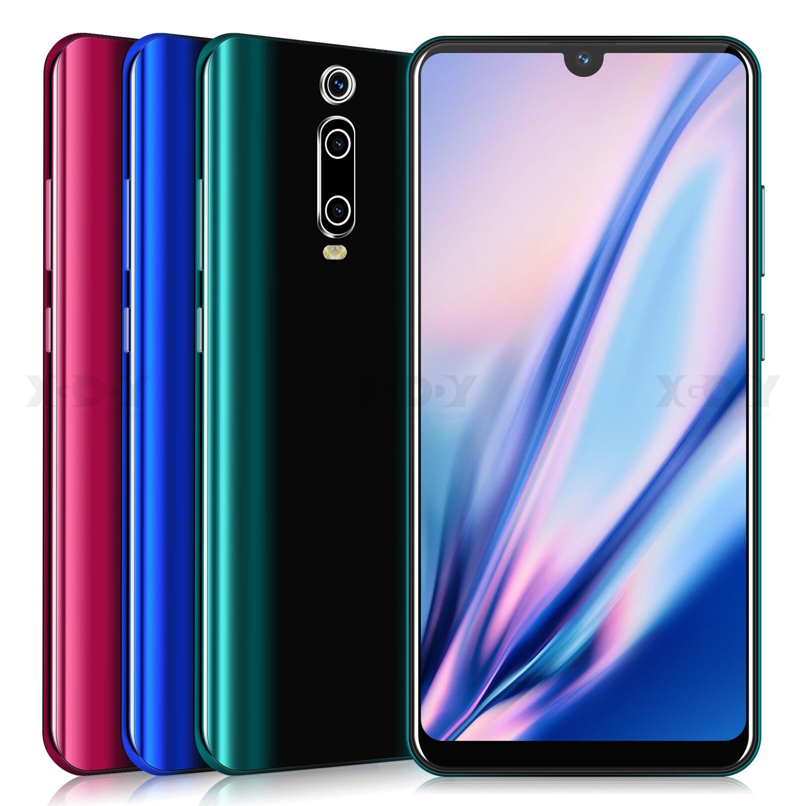 XGODY 3G téléphone portable 9T 1GB 4GB 6.26 ''QHD écran MTK6580 Quad Core Android 9.0 Waterdrop plein écran 2800mAh Smartphone