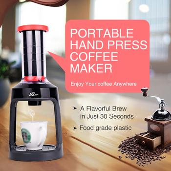 Ręczny ekspres do kawy ekspres do kawy pojedynczy Serve ekspres do kawy ręczna prasa ręczna ekspres do kawy ekspres do kawy tanie i dobre opinie homgeek 5 filiżanek Bean grinder Maszyna do kawy Hand Press Coffee Maker