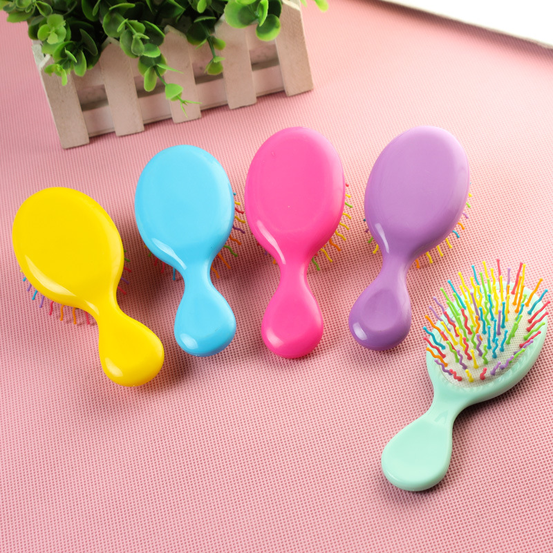 New 1PC Baby Candy Color Plastic Hair Brush Kids Portable Travel Anti-static Comb Baby Boys Girls Comfortable Head Massager Comb