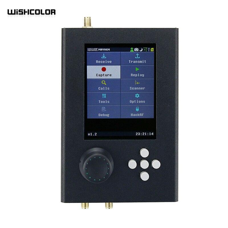 Wishcolor HackRF One + Portapack H2 SDR Радио 1 МГц-6 ГГц 0,5 м/мин TXCO с аккумулятором опционально металлический пластиковый несобранный чехол