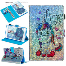 Case For Samsung Galaxy Tab A 7.0 2016 SM-T280 SM-T285 Tablet Soft TPU Back PU Leather Cover