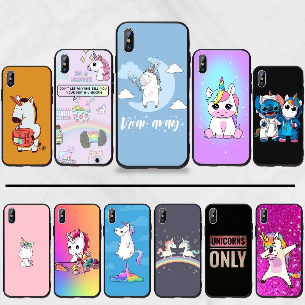 Unicorn Coque Shell Phone Case For iphone 5 5s 5c se 6 6s 7 8 plus