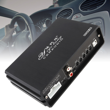 10 Bands 4x50W Car Digital Audio Processor DSP Amplifier with Bluetooth with Computer Phone EQ High Precision Tuning for Cars isudar da04 car dsp amplifier for vw skoda old version auto digital audio processor 700w bluetooth 5 0 filter 31 bands eq